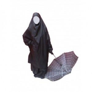 Jilbab imperméable 2 pièces