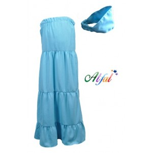 Jupe Ines bleu azur Taille 7/8 ans